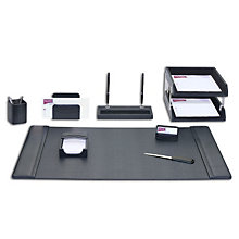 10 Piece Leather Desk Pad Set, DAC-10249