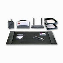 10 Piece Crocodile Embossed Leather Desk Pad Set, DAC-10248