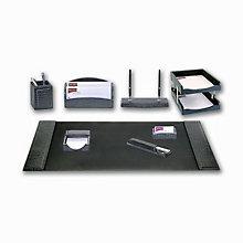 10 Piece Crocodile Embossed Leather Desk Pad Set, DAC-10248