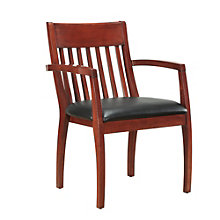 Bently Slat Back Guest Chair in Faux Leather, DMI-01269