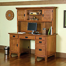 Double Pedestal Study Desk with Hutch , HOT-5180-184
