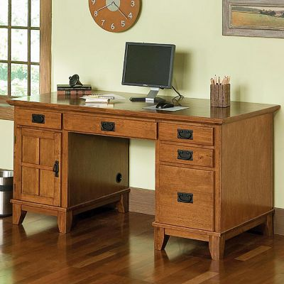 Mission Style Home Office Desks Amish Made Oak amp Craftsman