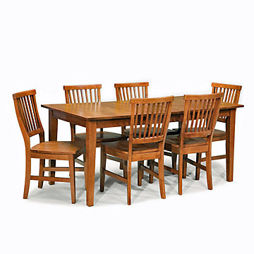 Cottage Oak Seven-Piece Dining Set, 5180-319