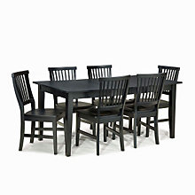 Ebony Finish Seven-Piece Breakroom Set, HOT-5181-319