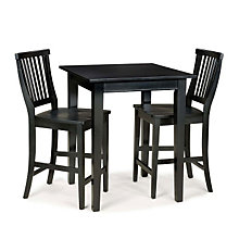 Ebony Three-Piece Bistro Breakroom Set, HOT-5181-359