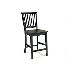 "Ebony Finish Bistro Bar Stool - 24-1/2""H Seat, HOT-5181-89"