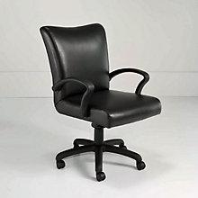Black Leather Desk Chair, DMI-6040-841