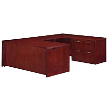 Summit Reed Lateral File U-Desk with Right Bridge, DMI-7008-537FP