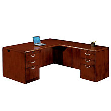 Summit Cope Executive L-Desk with Right Return, DMI-7009-47FP