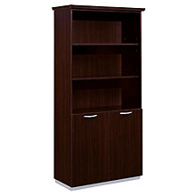 Mocha Bookcase with Lower Doors, DMI-7020-09