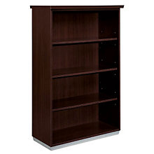 Mocha Four Shelf Open Bookcase, DMI-7020-158FP