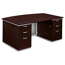 Mocha Executive Bow Front Desk, DMI-7020-37FP
