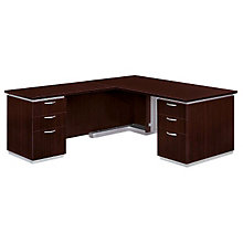 "Mocha Executive L-Desk with Left Return - 66"" x 78"", DMI-7020-28FP"