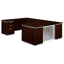 Mocha Executive U-Desk with Left Bridge, DMI-7020-58FP
