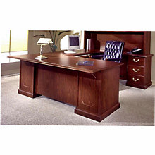 "Mahogany Executive Right ""U"" Desk, DMI-7462-78"