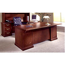 Mahogany Executive Left U-Desk, DMI-7462-79