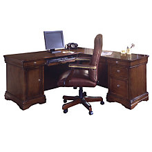 Chocolate Patina Computer L-Desk with Right Return, DMI-7684-48