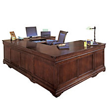 Chocolate Patina Finish Executive Right U Desk, DMI-7684-57