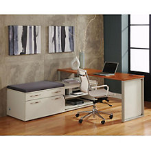 "Causeway L Desk with Storage - 72""W, 8802134"