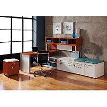 "Causeway Right L Desk with Hutch and Storage - 72""W, 8802171"