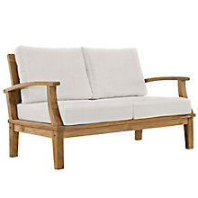 Outdoor Patio Teak Loveseat, 8805424