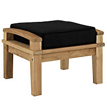 Outdoor Patio Teak Ottoman, 8805430