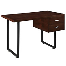 "Turn Two Drawer Compact Desk - 49.5""W, 8802670"