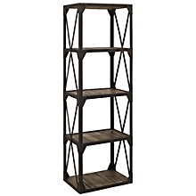 "Stave Four Shelf Industrial Bookcase - 70""H, 8802673"
