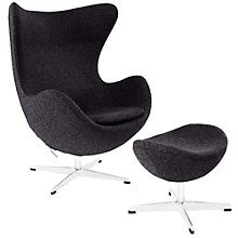 Wool Lounge Chair and Ottoman , 8805513