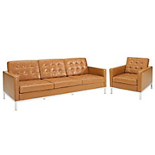 Armchair and Sofa Leather 2 PC, 8805522