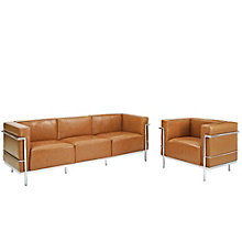 Grande Sofa  and Armchair Leat, 8805555