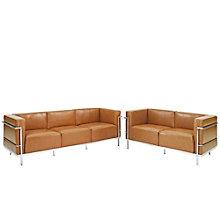 Grande Sofa and  Loveseat Leat, 8805556