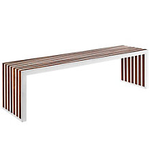 Large Wood Inlay Bench, 8805633