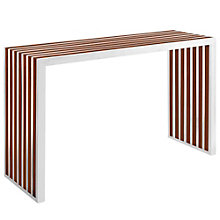 Wood Inlay Console Table, 8805634