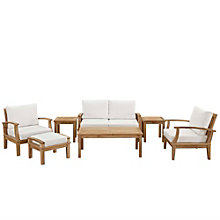 7 PC Outdoor Patio Teak Sofa S, 8805681