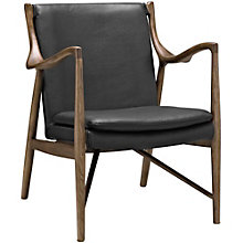 Leather Lounge Chair, 8805822