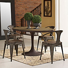 "60"" Oval Wood Top Dining Table, 8806123"
