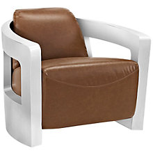 Leather Lounge Chair, 8806181