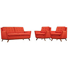 3 Piece Fabric Living Room Set, 8806243