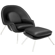 Leather Lounge Chair, 8806366