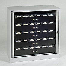 Tambour Door Locking Multimedia Storage Cabinet, EMI-TAMK1