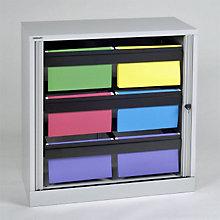 "Bisley Hanging File Folder Tambour Cabinet - 40"", EMI-TAMK3"