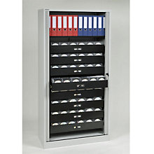 "Tambour Door Locking Multimedia Cabinet - 78""H, EMI-TAMK4"