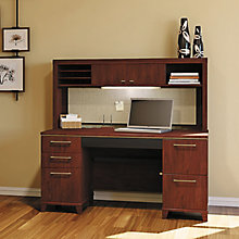 "Enterprise Double Pedestal Desk with Hutch - 60""W, 8808126"