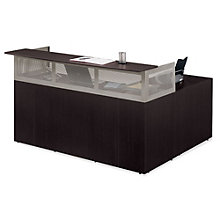 At Work Left Return Reception L-Desk with Pedestal, ERC-01228