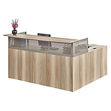 Reception L-Desk with Left Return in Warm Ash, 8804290