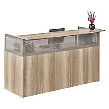 Reception Desk with Pedestal in Warm Ash, 8804294
