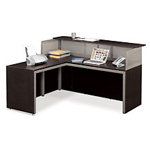 At Work Reception L-Desk with Left Return, OFG-LD1224