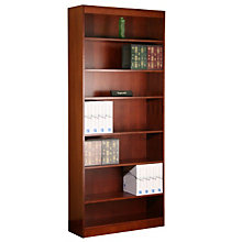 "Square Edge Seven Shelf Reinforced Bookcase -84""H, ERC-L13684"