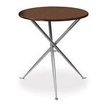 "Coffee Veneer Round Cafe Height Table - 30"", ERC-TS31530CW"